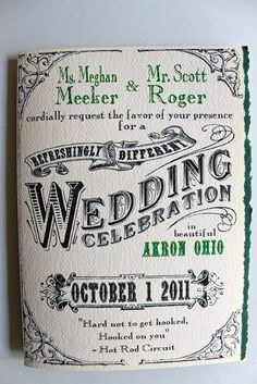 photo of Ask Your Groom to Design the Wedding Invitations...