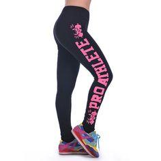 Women Printed Leggings Fashion Work Out Knitted Gym Stretch Slim Black Leggings - Hespirides Gifts - 1