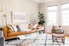 When Dani Wolinsky's boyfriend Adam moved into her San Francisco apartment, she decided it was time for the two of them to grow up (at least in terms of style). Homepolish's Nicole Newkirk helped them translate their tastes into a bright, airy, and absolutely colorful home.