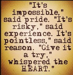 We learn to trust only by repeatedly taking personal risk and experiencing positive outcomes.