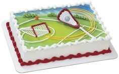 Coordinates perfectly for your lacrosse player's birthday or end of season party. Made of food-safe plastic. Measures x Height Includes a lacrosse stick with a ball. Lacrosse stick can be used as a magnet after your celebrati. Cake Supplies, Party Supplies, Lacrosse Cake, Girls Lacrosse, Lacrosse Quotes, Trampoline Cake, Cake Kit, Occasion Cakes, Birthday Parties
