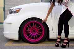 Like a belt to shoes, heels can match your wheels.