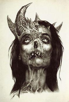 Really cool creepy face Creepy Faces, Creepy Stuff, Dark Artwork, Creepy Horror, Gothic Art, Fantasy, Macabre, All Art, Art Photography