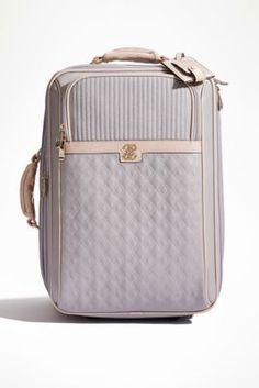 Merci Two-Wheel Upright Suitcase | GUESS.com. Just bought this one, this is a stunning, classic look. Carry on luggage.