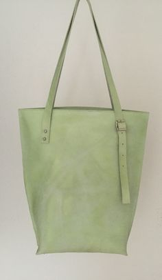 Heavy leather tote