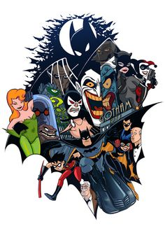Batman: The Animated Series- Bruce Timm Batman Cartoon, Batman Et Superman, Nightwing, Batwoman, Batgirl, Dc Comics Art, Marvel Dc Comics, Comic Book Characters, Comic Character