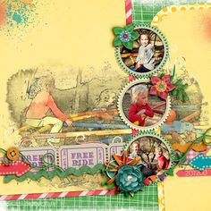 Kit: Magic Rides - Mel Hains {Splats}{Stripes} Template: Revisited 14 - Scrapping with Liz Font: Claritty
