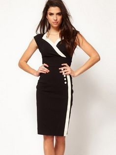 Stylish 3 Color Blended  Bodycon-dress