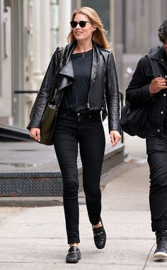 look All black básico e  estiloso