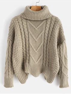 Product Chunky Knit Turtleneck Sweater available for Zaful WW, get it now ! Beige Pullover, Pullover Outfit, Pullover Hoodie, Pullover Sweaters, White Turtleneck, Jersey Multicolor, Mini Vestidos, Mode Style, Men's Style