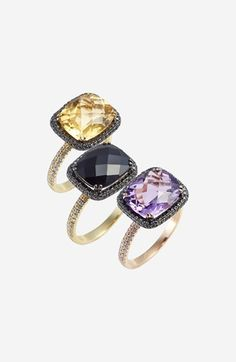 Bony Levy 'Iris' Diamond & Stone Cocktail Ring (Nordstrom Exclusive) available at #Nordstrom