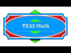 TEAS V Math Review - Study Pack - YouTube