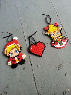 Couples Zelda Christmas Ornament Set by BurritoPrincess on Etsy
