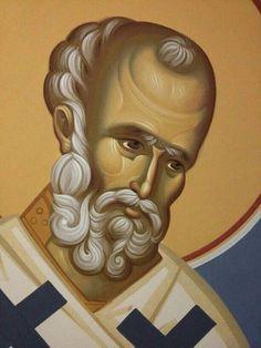 Byzantine Icons, Orthodox Icons, Saints, Portrait, Face, Men, Santos, Headshot Photography, Men Portrait