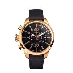 Chotovelli Airbase 5200 Evo Aviator Pilot Watch Gold/Black JTS5200-14