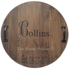 Huge Wine Barrel Personalized, Monogram, Lazy Susan, Wood Wine Barrel,... ($129) ❤ liked on Polyvore featuring home, kitchen & dining, personalized wine barrel lazy susan, monogrammed lazy susan, wine barrel lazy susan, wooden turntable and wood lazy susan