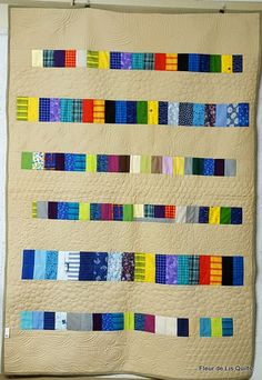 """""""Les Baton"""" French for the sticks, is a scrap quilt completed in Dec 2016"""