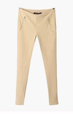 Zipper Slim Fit Pants – Trendy Road