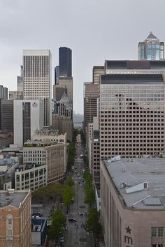 ✯ Downtown Seattle Skyline Downtown Seattle, Seattle Skyline, Seattle Washington, Washington State, Places Ive Been, Places To Visit, Seattle Neighborhoods, Evergreen State, Emerald City