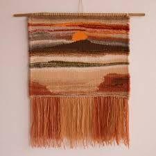 Resultado de imagen para telares decorativos paisajes Types Of Weaving, Weaving Art, Weaving Patterns, Tapestry Weaving, Loom Weaving, Hand Weaving, Composition Art, Textiles, Tear