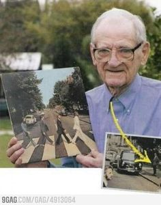 He photo-bombed the most iconic picture ever. What a boss.