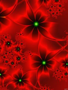 "i lo-o-ove fractal art! [""Red Beauty by Digital Art / Fractal Art / Raw Fractals""] Fractal Design, Art Fractal, Fractal Images, I See Red, Shades Of Red, Sacred Geometry, My Favorite Color, Fantasy Art, Fractals"