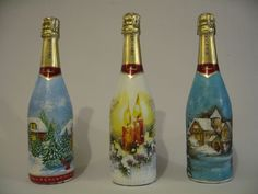 decuopage su bottiglie