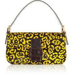 Fendi: Sunflower Calf Hair Baguette `
