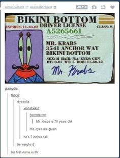 The truth about Mr. Krabs