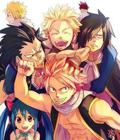 Natsu Dragneel, Rogue Cheney, Sting Youcliff, Wendy Marvell, Gajeel Redfox, Luxus Dreyar, Cobra
