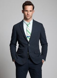 The Charleston Seersucker Suit - Navy