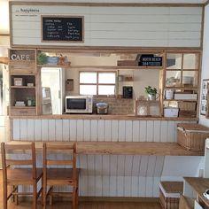 ナチュラル/窓枠/カフェ風/instagram→juriomi101/キッチンカウンター…などのインテリア実例 - 2016-02-18 16:54:19 | RoomClip(ルームクリップ)