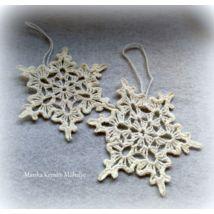 Horgolt hópehely Crochet Earrings, Jewelry, Jewlery, Jewerly, Schmuck, Jewels, Jewelery, Fine Jewelry, Jewel