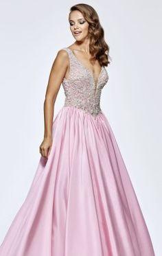 Beaded Ball Gown by Tarik Ediz 93181