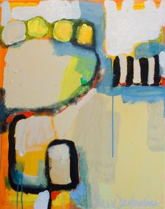 """""""In This Order"""" by Claire Desjardins - 22""""x28"""" - Acrylics on canvas."""