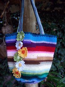 shabby crochet bag - free pattern