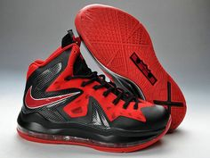 half off f1190 b72e6 Nike LeBron 10 PS Elite Alternate Black Red Nike Lebron, Lebron 11,  Converse Shoes
