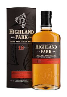 Highland Park 18 Year Old Scotch Whisky - available to buy online from the Highland Park Shop. Single Malt Whisky, Gift Packs and more - shop now! Scotch Whisky, Bourbon Whiskey, Highland Park Whisky, Rum, Single Malt Whisky, Distillery, Whiskey Bottle, Alcoholic Drinks, Wine Pairings