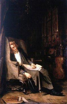 Pettie, John (b,1839)- Musician's Reverie, c 1885
