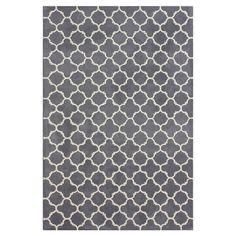 Hand-tufted wool rug with Moroccan trellis motif.   Product: RugConstruction Material: WoolColor:
