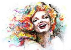 Resultado de imagem para mulher em aquarela