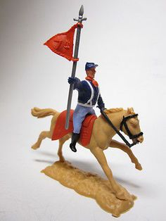 Timpo Toys 7th Cavalry Flag in red - Nordstaatler zu Pferd - TOP