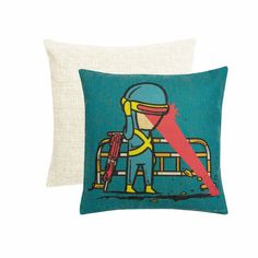 Part Time Cyclops Cushion Cover, Blue