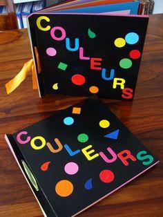 An art and language project: have kids paint a page for each color. Then, bind all the pages together. Voilà, a COLOR book! Les couleurs en français.