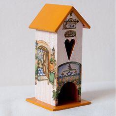 mirei / Domček na čaj - Tea Bird, Outdoor Decor, Handmade, Home Decor, Home, Hand Made, Decoration Home, Room Decor, Birds