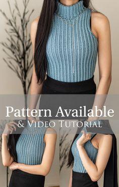 Crochet Cardigan Pattern, Crochet Blouse, Diy Blouse, Crochet Clothes, Diy Clothes, Knit Sweater Outfit, Crop Top Pattern, Mode Crochet, Crochet Crop Top
