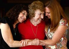 "Holocaust survivor Doris Small, center, with daughter Miriam Saunders, 60, left, and granddaughter Jenniffer Veno, tells her offspring: ""If I didn't go through this and if I didn't survive, you wouldn't be here."""
