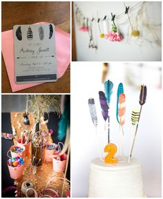 Adorable boho chic kid's birthday party.