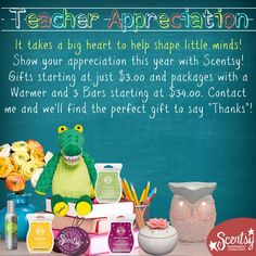 Doesn't that awesome teacher deserve something special? Order Online ~ Ships Direct https://spollreisz.scentsy.us