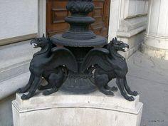 A pair of griffins in Vienna, Austria